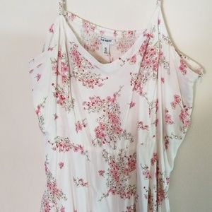 Worn twice! Old Navy white and pink summer dress